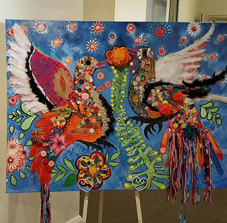 Residents and students team up  to create stunning artwork