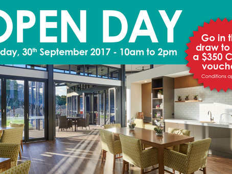 OPEN DAY - Saturday, 30th September 2017, 10am to 2pm