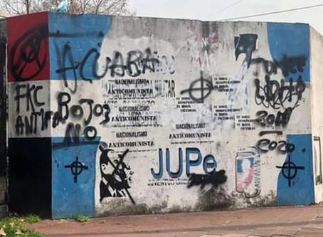 Repudiamos acto vandálico contra los locales del Pc-San Martín y la JP de Maipú