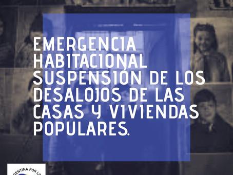DECLARACIÓN DE LA LADH ANTE LA EMERGENCIA SANITARIA, ECONÓMICA  Y HABITACIONAL