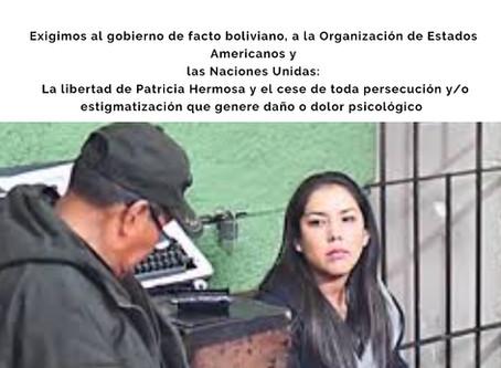 Detención indebida e ilegal de PATRICIA HERMOSA, Abogada y Ex Secretaria del Presidente Evo Morales
