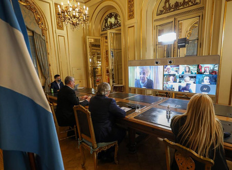 Reunión de la Mesa de Organismos de DDHH con el Presidente Alberto Fernández