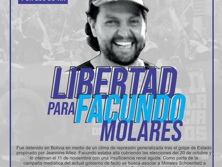 Facundo Molares Schoenfeld: preso político en Bolivia.