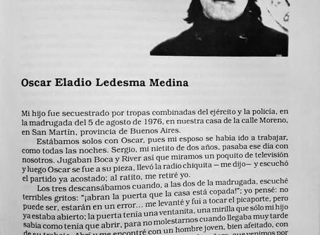 Identifican el cuerpo de Oscar Eladio Ledesma Medina, detenido ( secuestrado)  y desaparecido