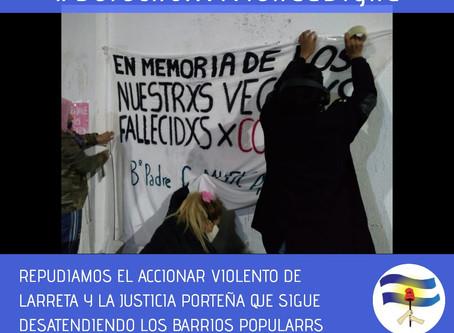 REPUDIO AL ACCIONAR DEL GOBIERNO DE RODRIGUEZ LARRETA
