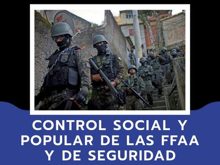 CONTROL YA DE LAS FUERZAS REPRESIVAS