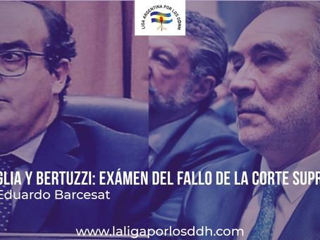 La Corte resolvió la situación de Bruglia y Bertuzzi:Examen del fallo de la Corte Suprema