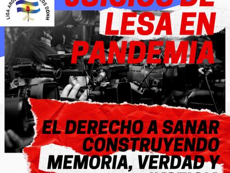 JUICIOS DE LESA HUMANIDAD EN PANDEMIA