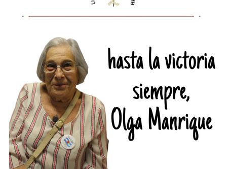 HASTA SIEMPRE OLGA MANRIQUE