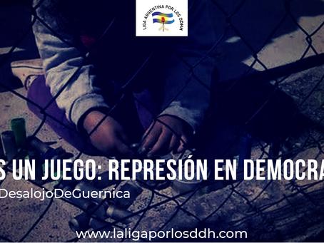 La robusta línea roja que une la prisión de Milagro Sala con la represión estatal en Guernica