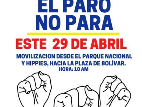 Respaldamos las luchas por la dignidad de los pueblos de Colombia y Chile.
