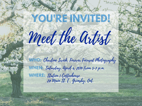 Meet the Artist Night at Station 1 Coffeehouse April 6, 2019