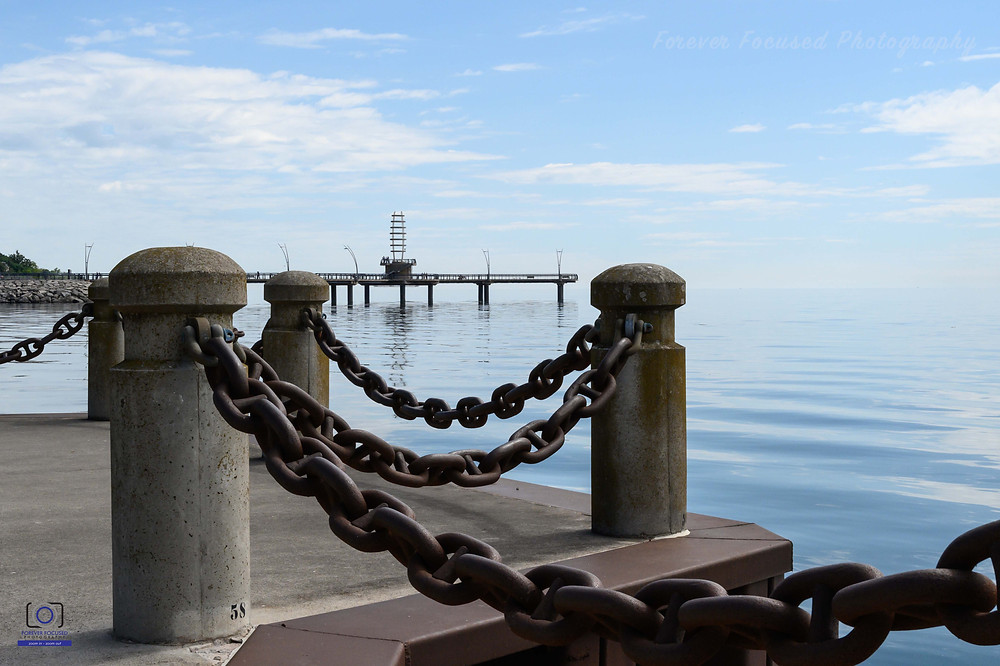 This is the Burlington Pier along the lakeshore at Spencer Smith Park in Burlington.