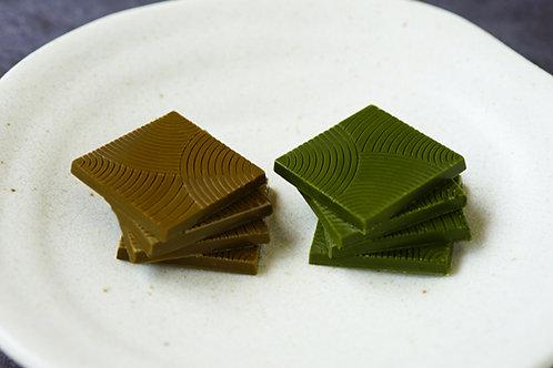 お濃茶&ほうじ茶ミックスチョコレート【6×6枚入・12×12枚入】