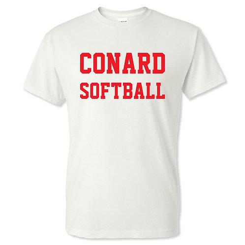 Conard Softball White T-shirt