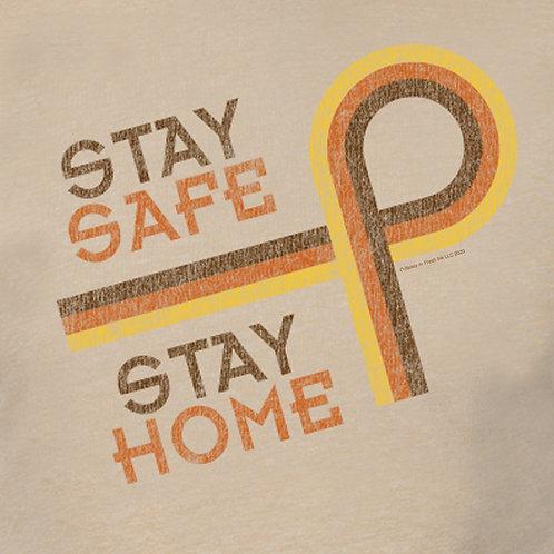 Stay Safe Stay Home Retro