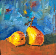 Pears and Blue