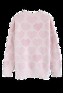 Chicwish Fuzzy Heart Sweater