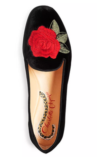 Charlotte Olympia Rose Embroidered Flat