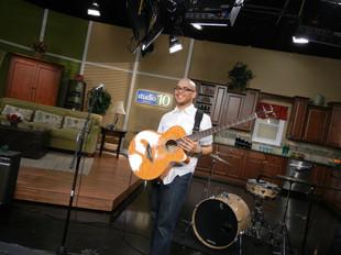 On set at Studio10 - CBS