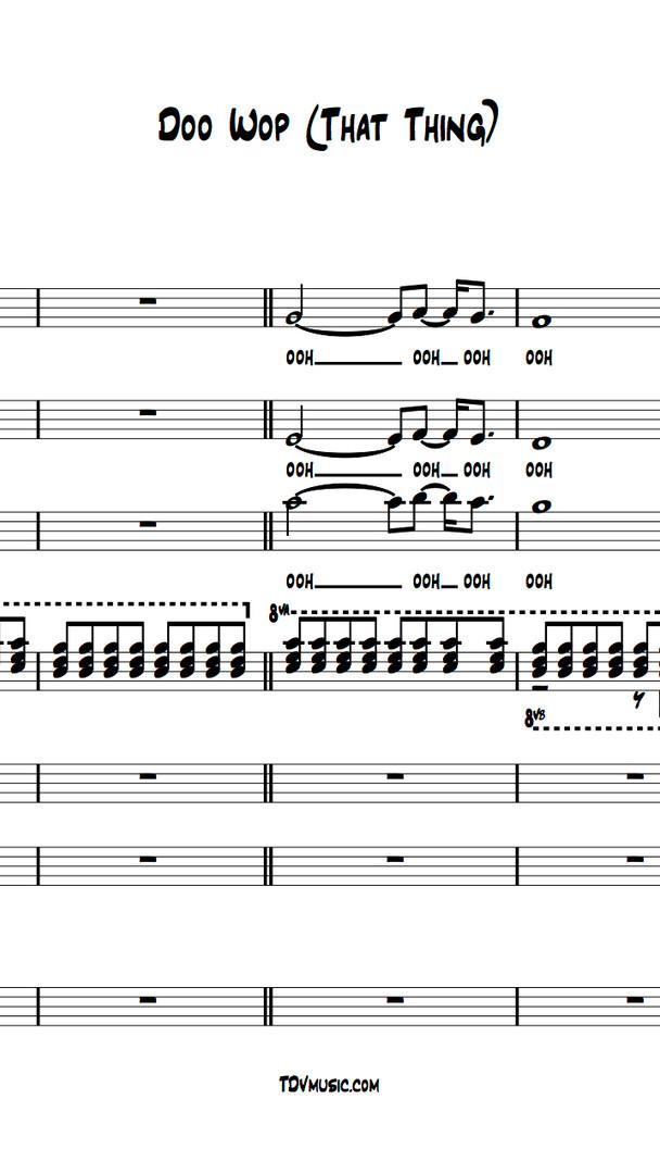 Doo Wop (That Thing) - Full Score