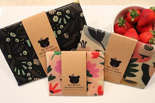 Gorgeous Floral Print Beeswax Wraps