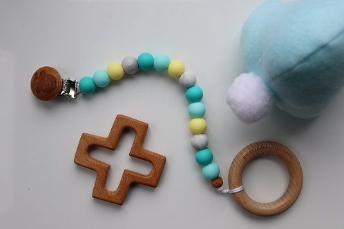 Mint, Turquoise & Yellow Dummy Clip