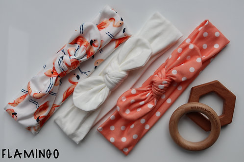 Flamingo Newborn Headband Set