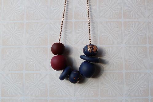 Maroon/Navy Necklace