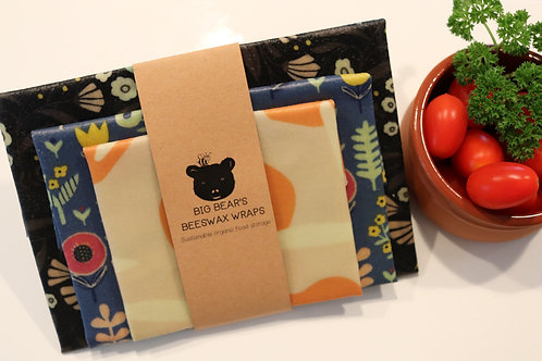Bold Floral Mixed Beeswax Set