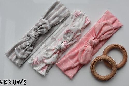 Arrows Newborn Headband Set
