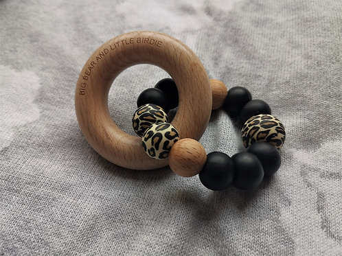 Leopard Print Teething Ring