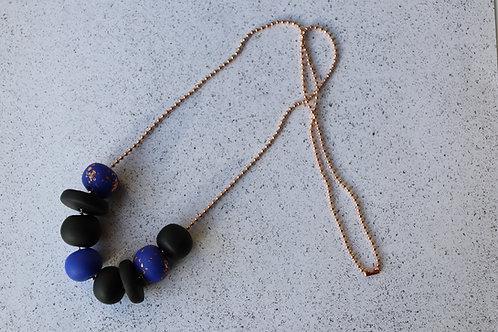 Royal Blue Rose Gold Necklace