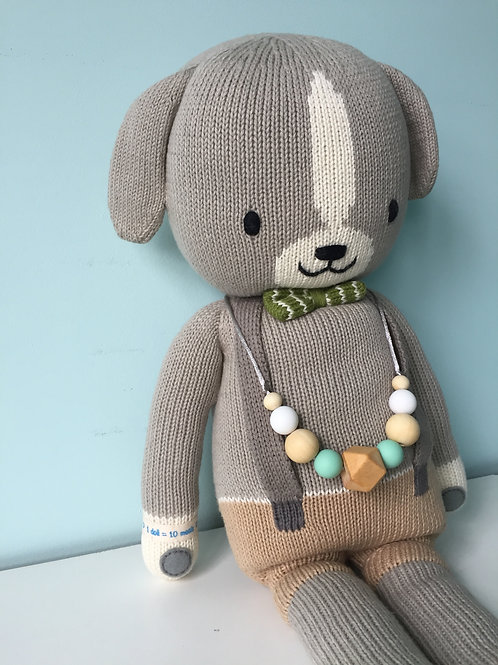 Mint Geen Wooden Teething Necklace