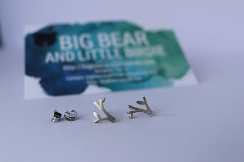 Sterling Silver Tree Branch Studs