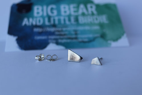 Sterling Silver Geometric Shape Studs