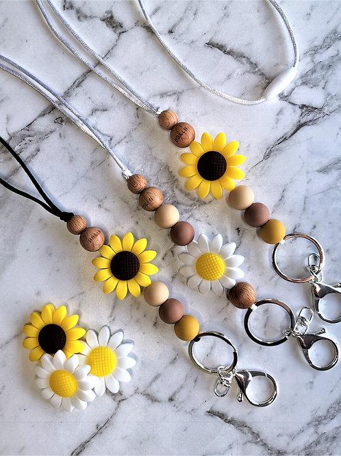 Sunflower Boho Lanyard
