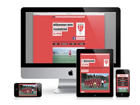 Neue Homepage FC Pfyn