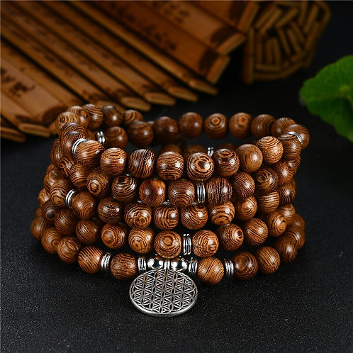 Prayer Beads Bracelet 108 Tibetan Buddhist Rosary Charm Mala