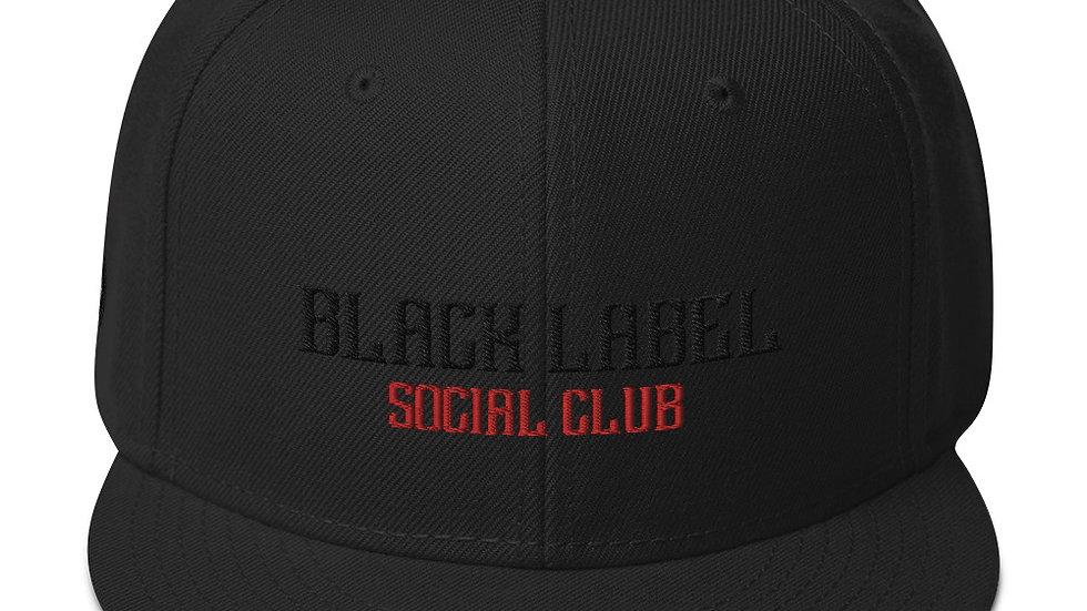 Black Label Snapback Hat