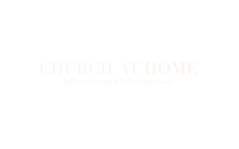 church at home viewing & event program l