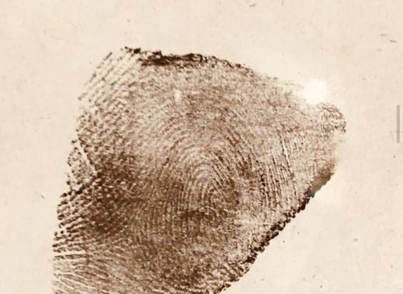 Thumb print in ink