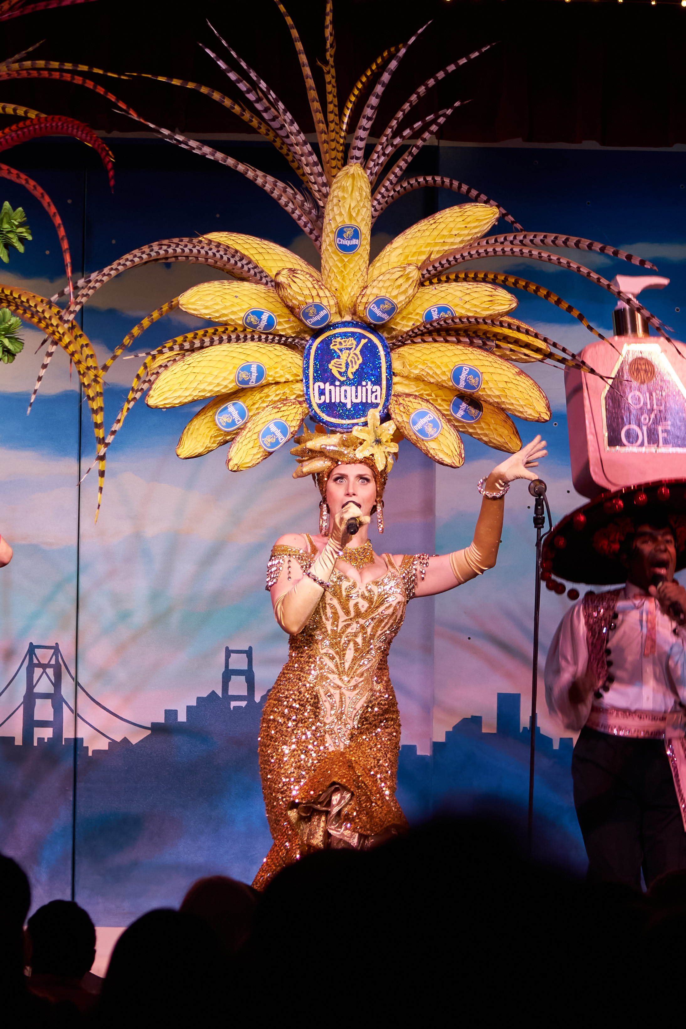 Beach Blanket Babylon 2015 as Chiquita Banana