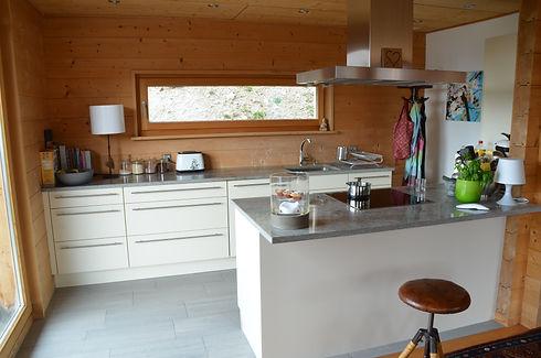Küche, modern, luxuriös, grosszügig, pflegeleicht, hell, Küchenfenster
