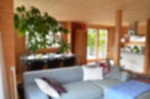 Wohnzimmer, Essbereich, Balkon, Aussichtsterrasse, Panorama, Berge