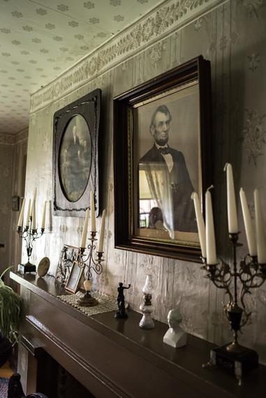 Lincoln Portrait at Forestville State Park