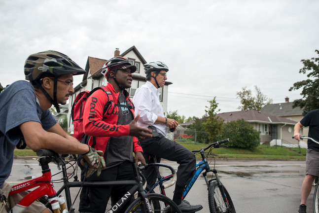 North Minneapolis Bike Ride Gil Penalosa Anthony Taylor