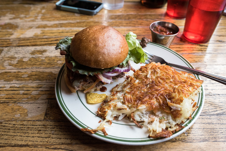Burger at Bad Waitress in Minneapolis