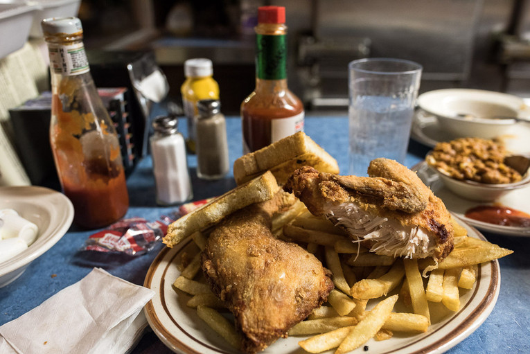 Fried Chicken at St. Paul's Mickey's Diner