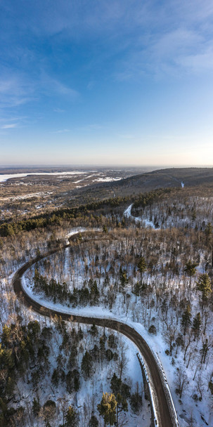 Skyline Parkway Snowmobile Trails in Duluth City Limits